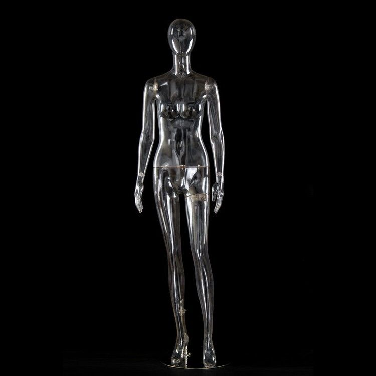 Full body female invisible metal wire mannequin